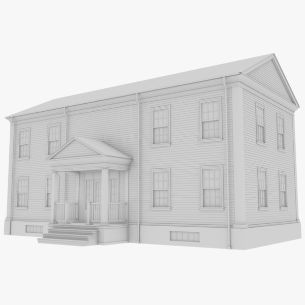3D colonial house 1