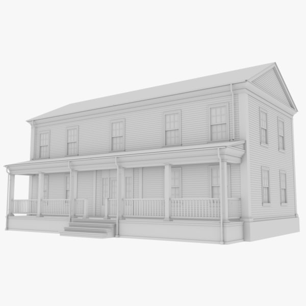 colonial house 3D