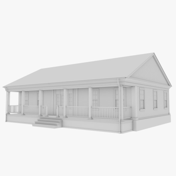 3D colonial house 6