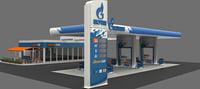 3D filling station exterior format