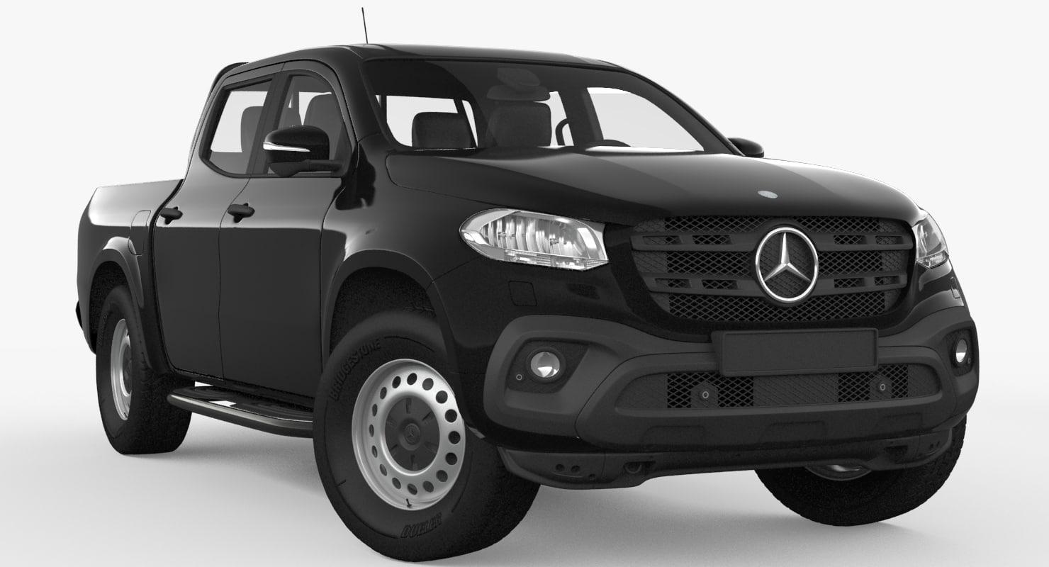 mercedes benz x class 3d model turbosquid 1195485. Black Bedroom Furniture Sets. Home Design Ideas