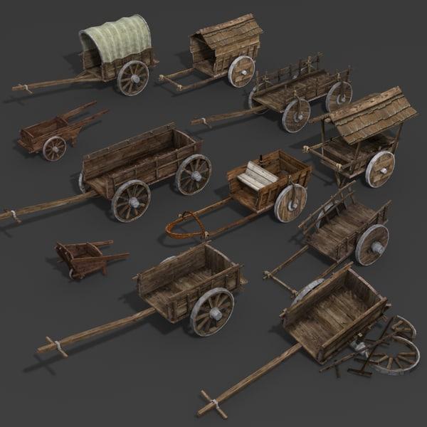 3D model chariot