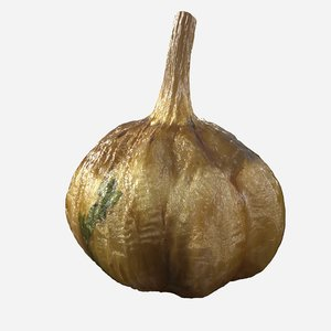 3D cooked garlic