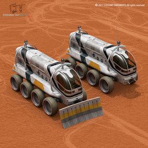 sci-fi rover 3D model
