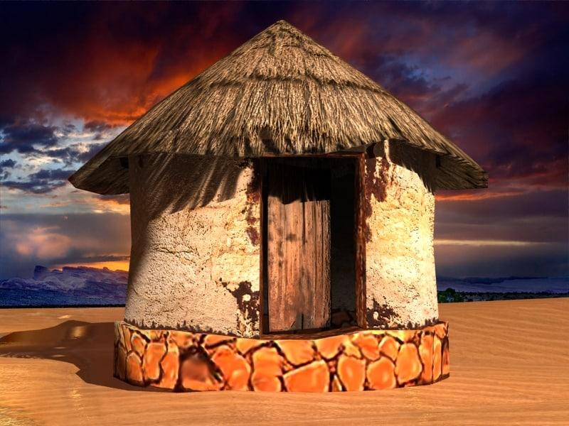 3D african house model