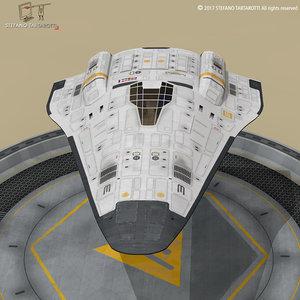 3D sci-fi shuttle