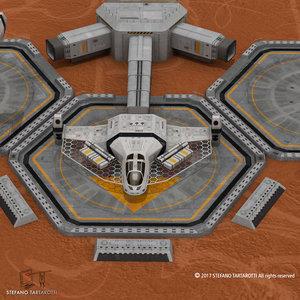 3D sci-fi exploration flyer