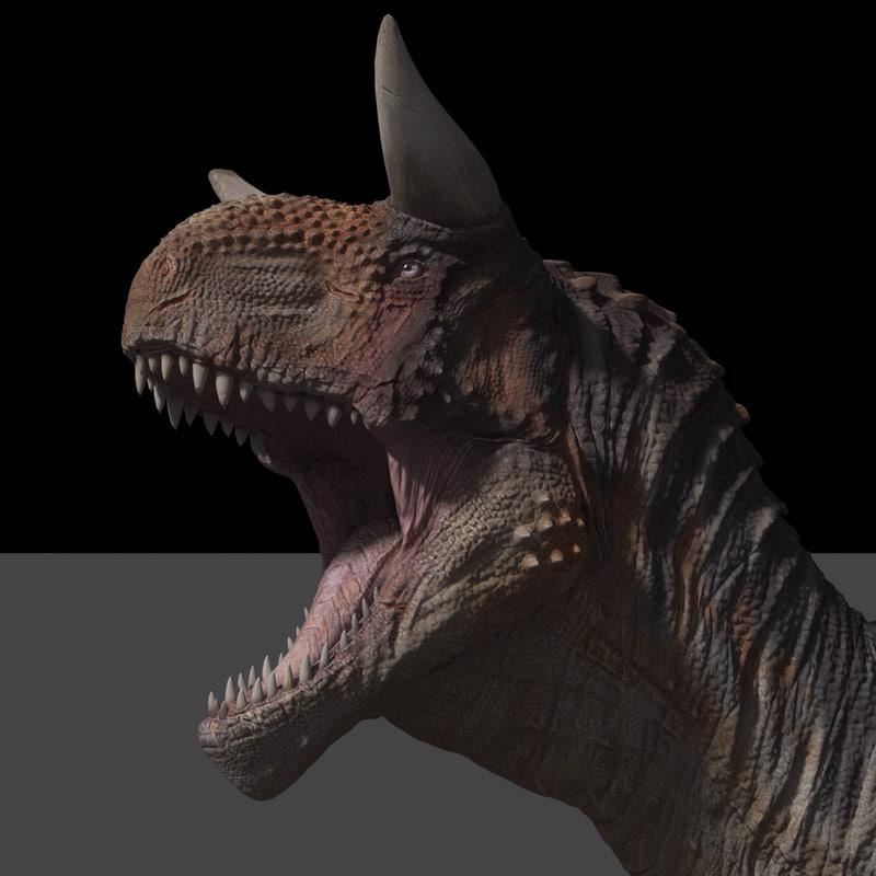 carnotaurus rig dinosaur 3D model