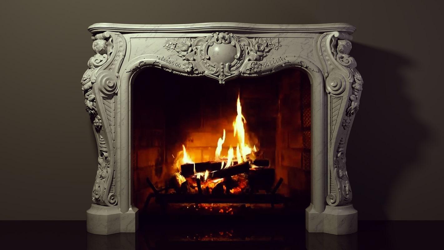 fireplace decor printing 3D model