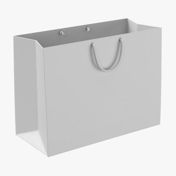 3D model paper shopping bag string