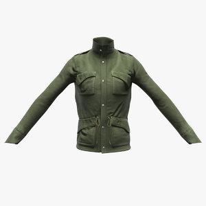 realistic jacket cloth 3D model