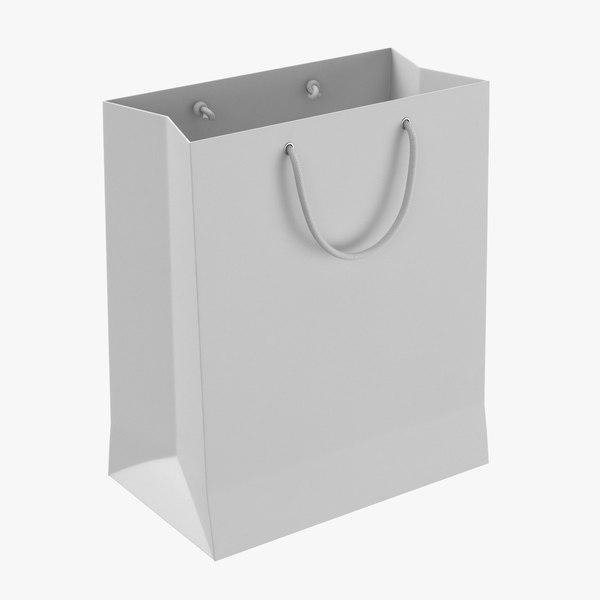paper shopping bag string 3D model