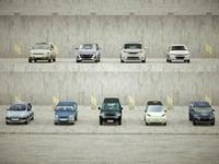3D 9 low-poly vans model