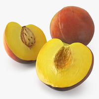 Peach Fruit 3D Models Collection