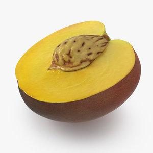half peach seed 3D