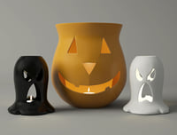 3D halloween lanterns model