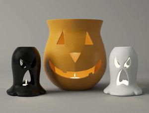 3D halloween lanterns model