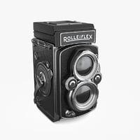 rolleiflex film camera 3D model