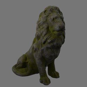 3D lion base