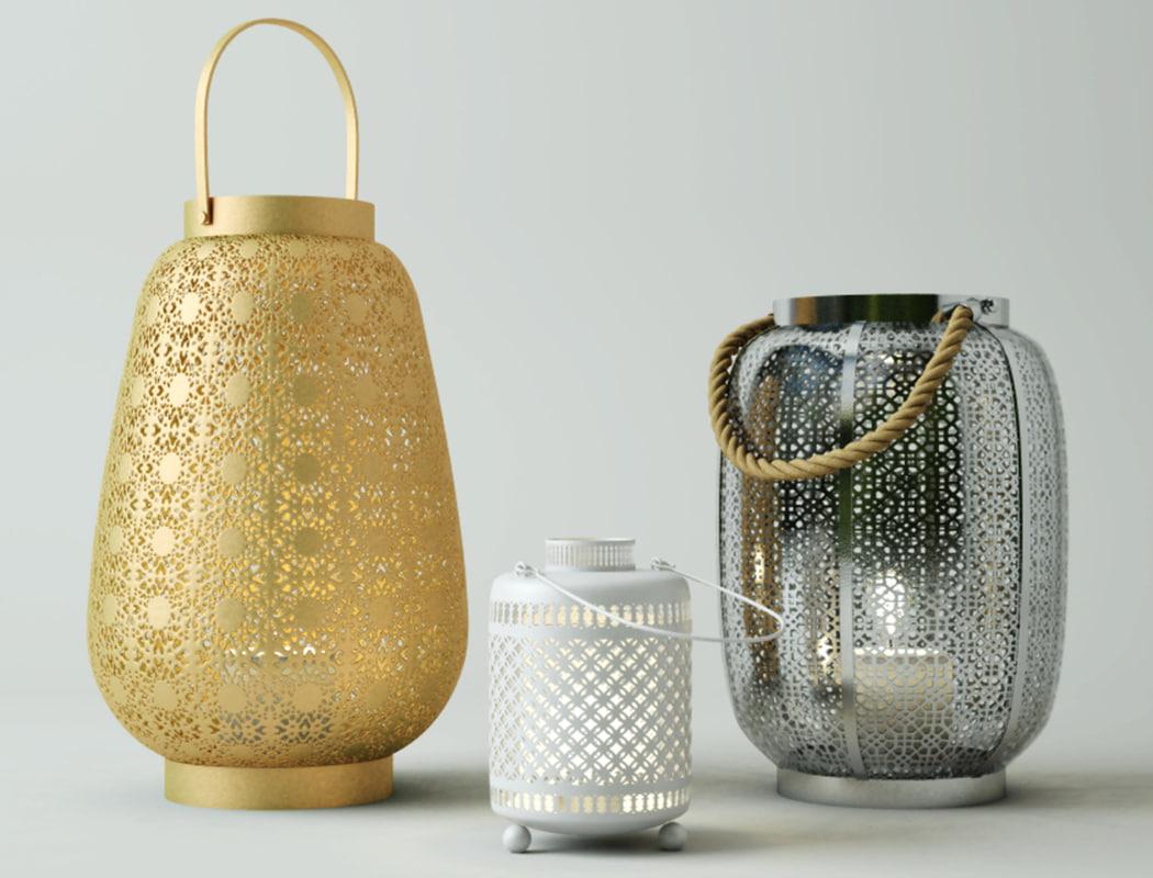lanterns zara home 3D