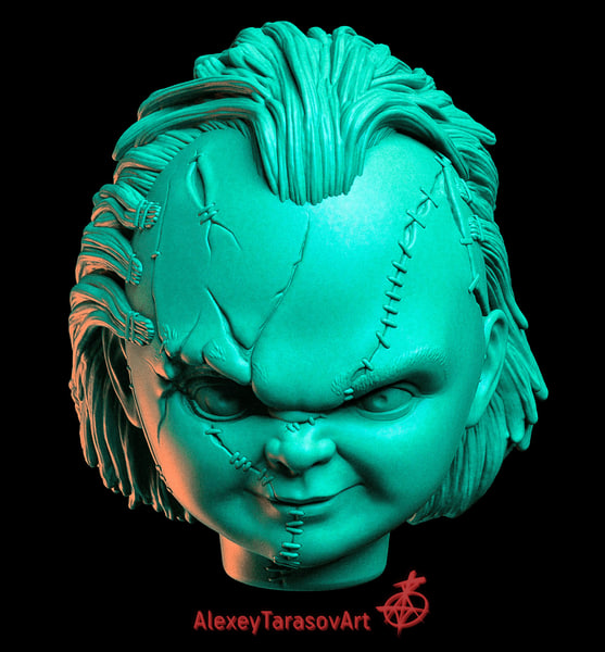chucky heads 3dprinting 3D