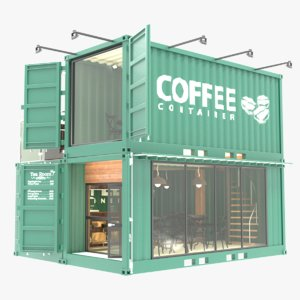 container cafe 3D model