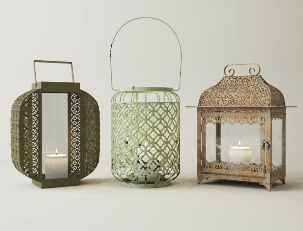 metal lanterns model