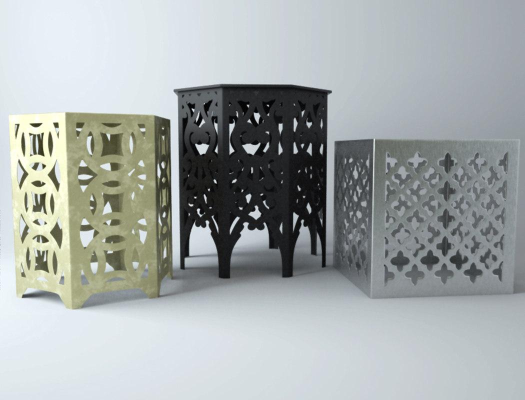 metal tables 3D model