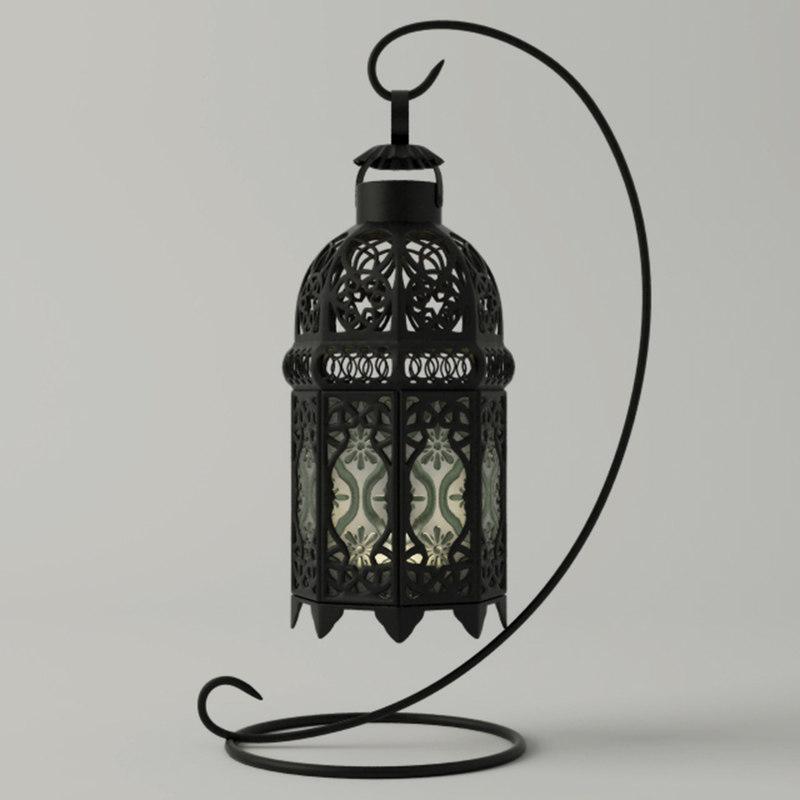 moroccan tabletop lantern 3D model