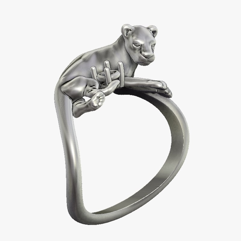 3D ring lioness model