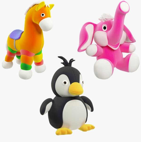 stuffed toys 3D model