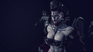 3D demon succubus demoness model
