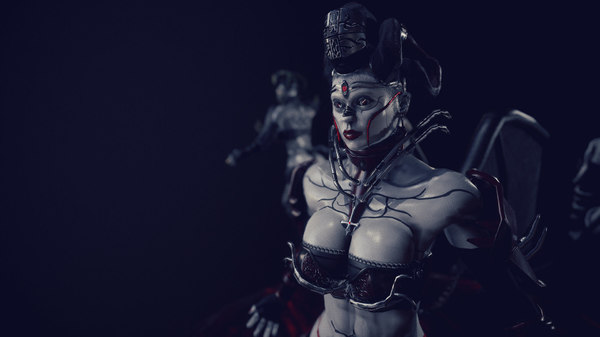 3D demon succubus demoness model