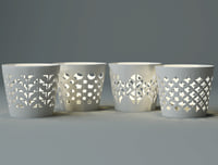 white candle holder set 3D