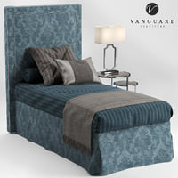 vanguard furniture hillary single 3D model