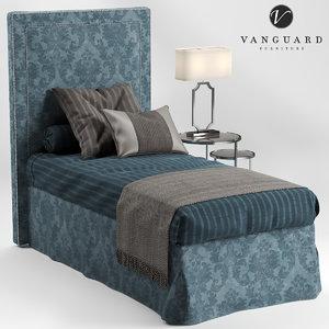 vanguard furniture hillary single 3D model