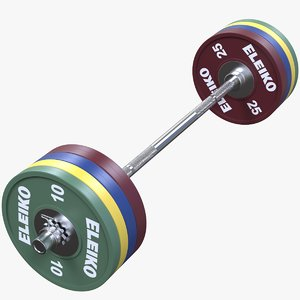 3D olympic weightlifting bar model
