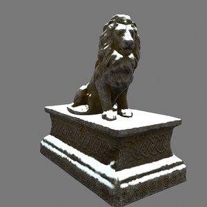 lion base 3D model
