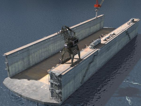 3D dry dock model