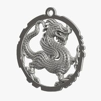 3D dragon pendant printing model