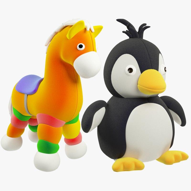 stuffed toys 3D