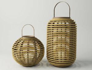bamboo jute lanterns model