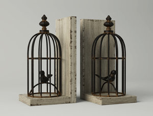 birdcage bookend 3D model