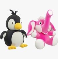 3D stuffed toys model