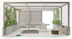 3D kettal pavilion xl