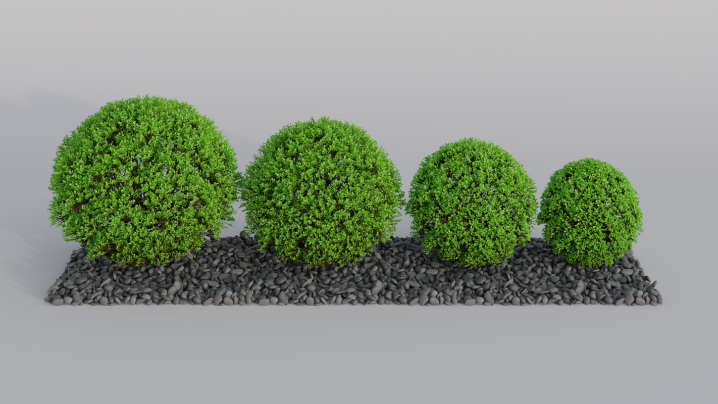 decorative tree pebble 3D