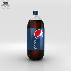 3D bottle pepsi 2l