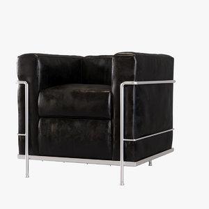 lc2 poltrona armchair 3D model