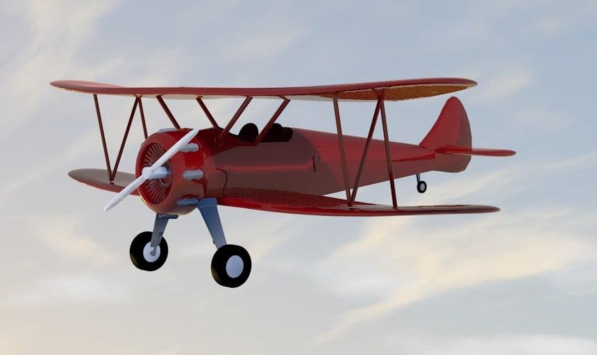 biplane aircraft model