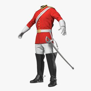 3D british cavalry royal life